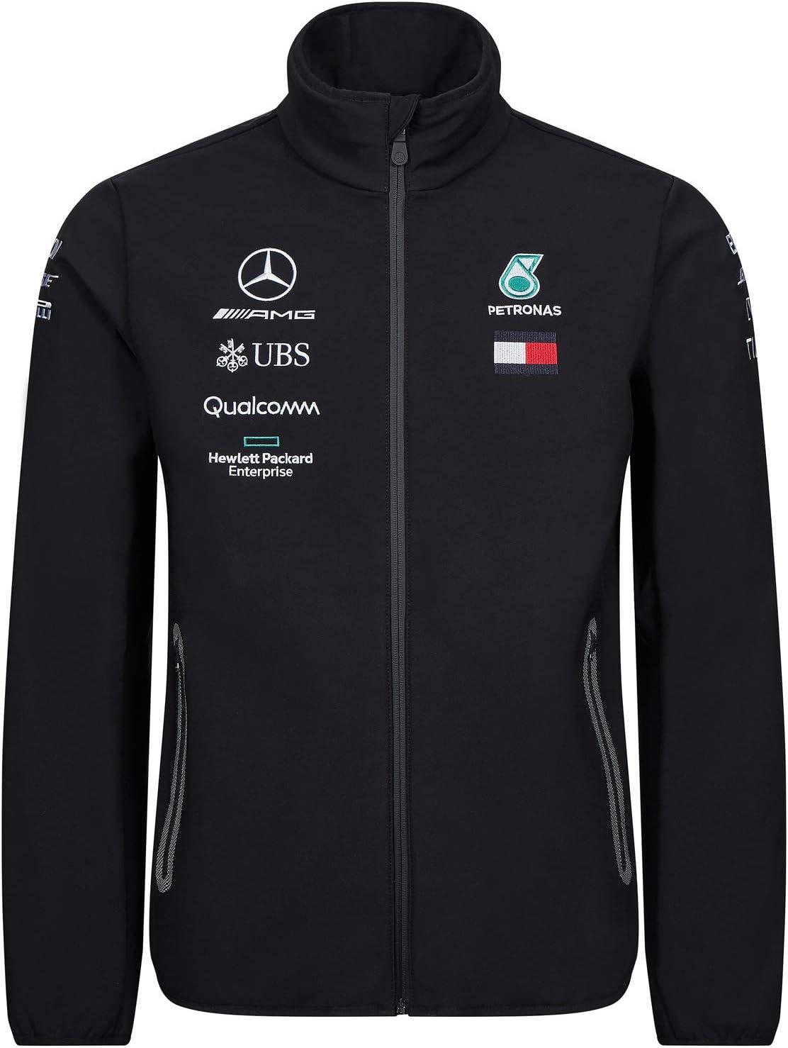 Mercedes-AMG Petronas Motorsport Collection 2019 F1/™ pour Homme Veste Softshell Noire de l/équipe