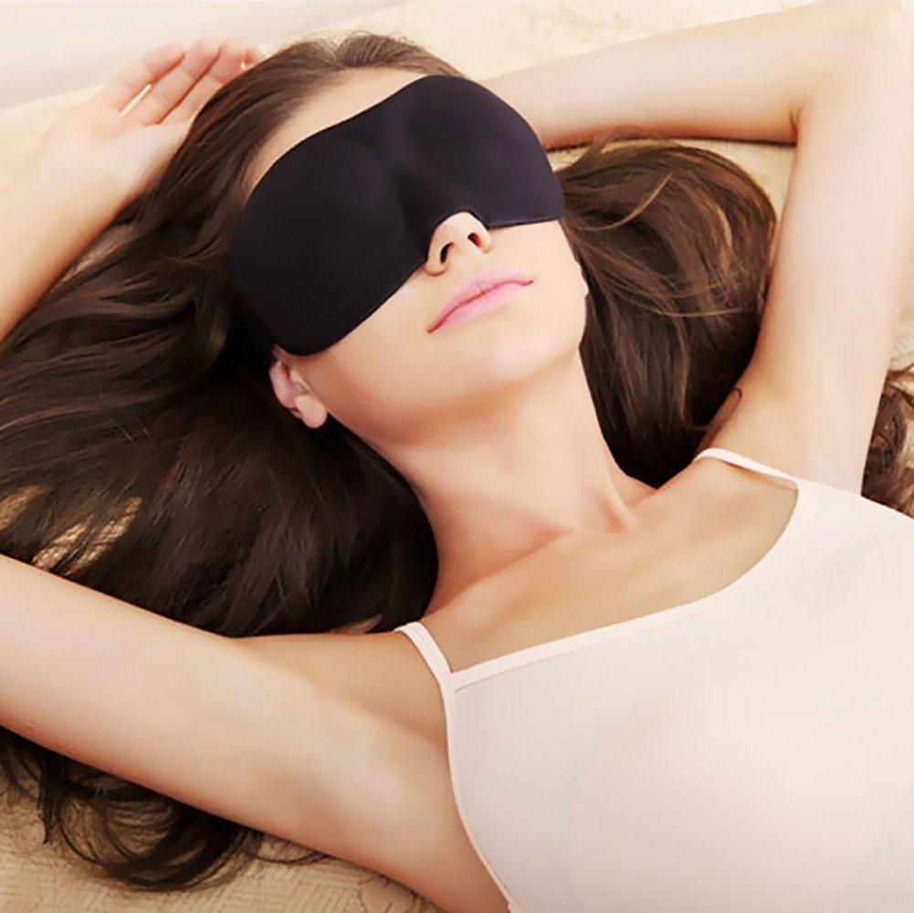 Sleep Mask for Women and Men by RiptGear - 3D Contoured Ultralight No Pressure Eye Mask for Sleep & Travel - Comfortable Sleeping Mask by RiptGear (Image #9)