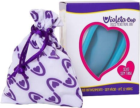 Disco Menstrual Duo Violeta Cup Azul Celeste, Violeta Cup
