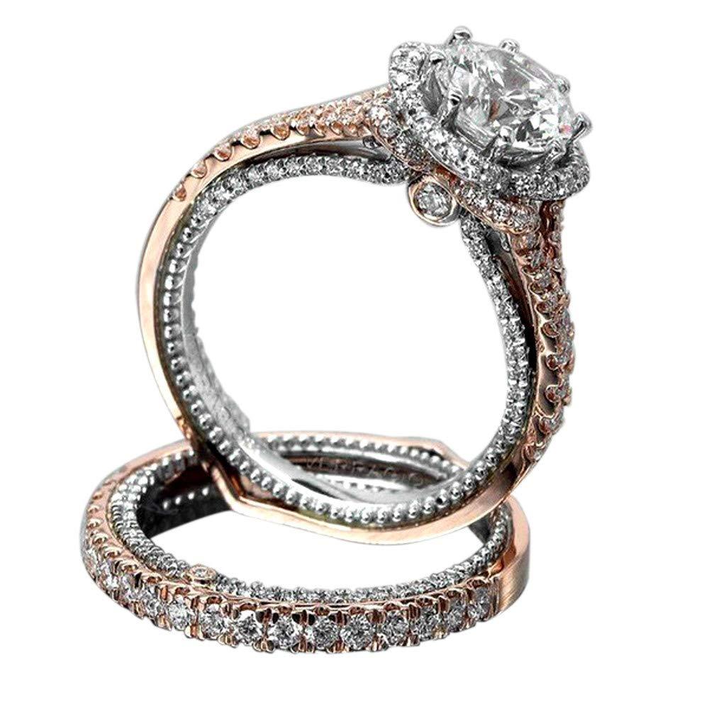 Amazon Com Gbell Women Luxury Vintage Rose Gold Rings Wedding