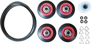 Edgewater Parts 4392067 Dryer Repair Kit (4 Rollers, Belt, Idler Wheel, Clips & Washers)