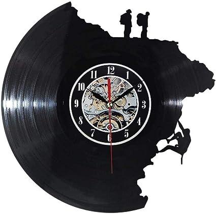 hxjie Reloj de Pared Decorativo Grande Reloj de Disco de ...