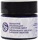 Soapwalla - Organic/Vegan Sensitive Skin Travel-Size Deodorant Cream (Lavender Mint, Baking Soda Free)
