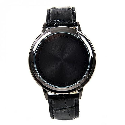 diseños atractivos último diseño calidad Reloj de pulsera deportivo unisex, incluye pantalla táctil y luces  indicadoras LED intermitentes, correa negra