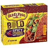 hard taco shells - Old El Paso Gluten Free Stand 'n Stuff Bold Spicy Cheddar Flavored Taco Shells 5.4 oz. Box