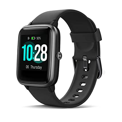 HOMVILLA Smartwatch Fitness Tracker Reloj Inteligente Impermeable IP68 Fitness con Monitor de Ritmo Cardíaco Podómetro Monitor de Sueño Cronómetro ...
