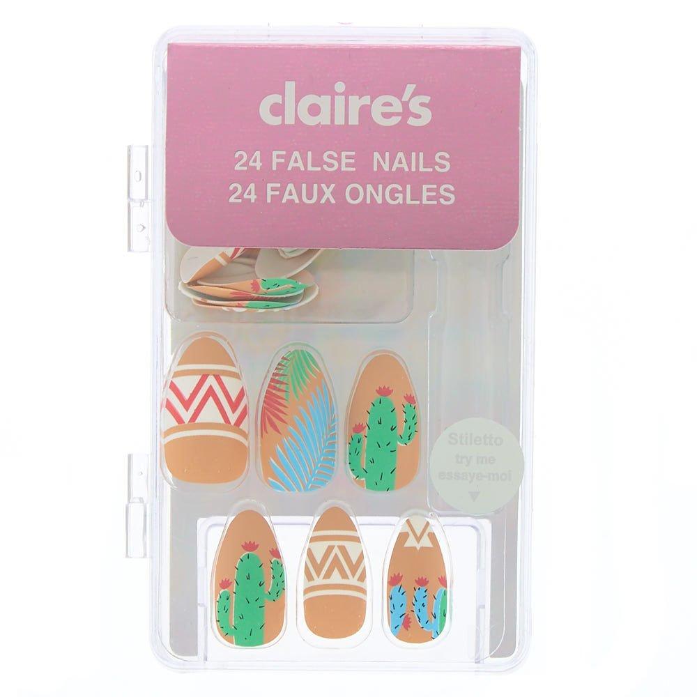 Claires - Juego de 24 uñas postizas para niña (24 unidades ...