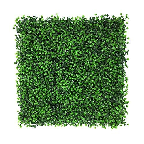 BESAMENATURE Artificial Plants Wall Boxwood Hedge Grass Mat/High Density Greenery Panels Ivy Fence 20