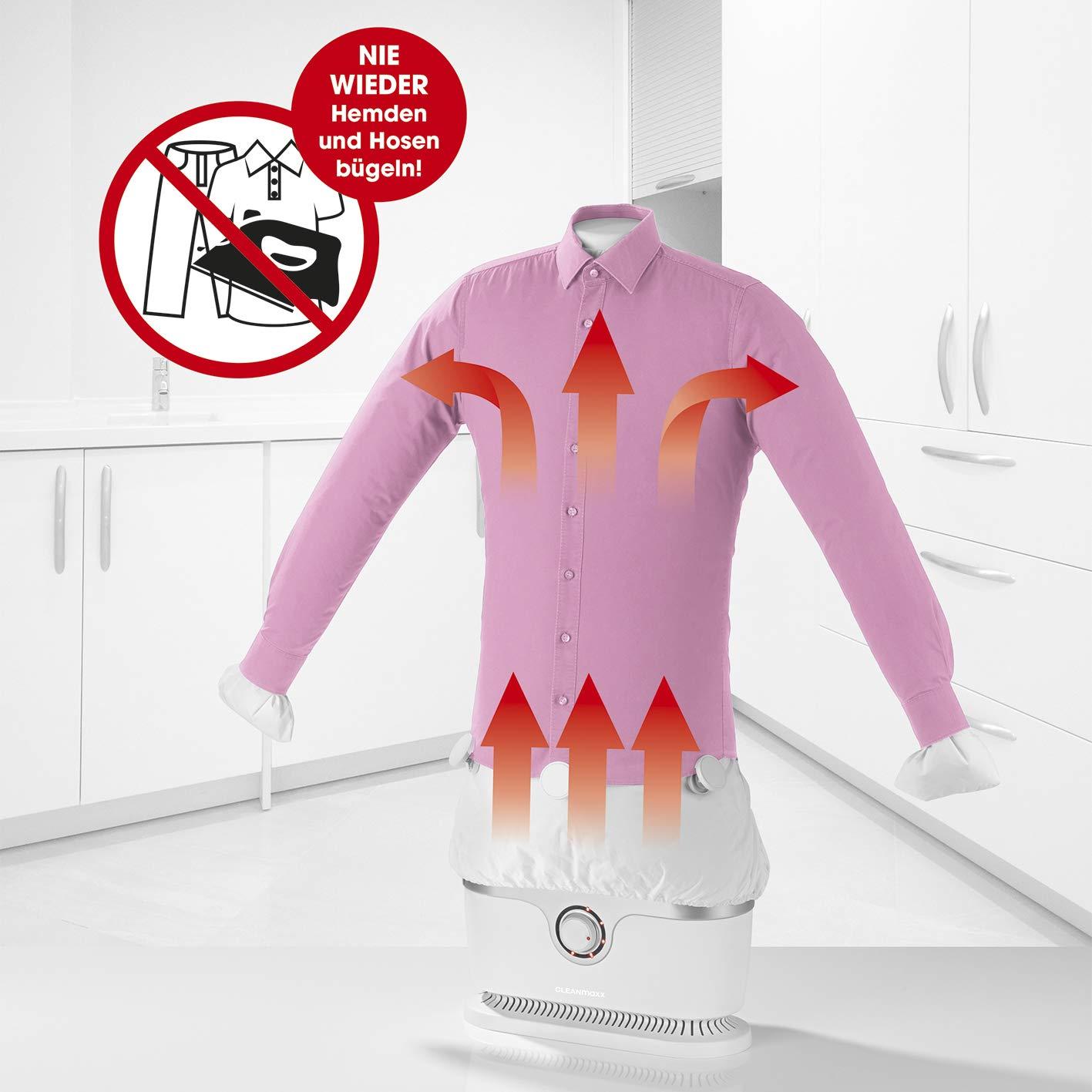 Planchador automático para camisas CLEANmaxx | Planchador para camisas y blusas, planchador automático | Bastidor de planchado con dos programas de ...