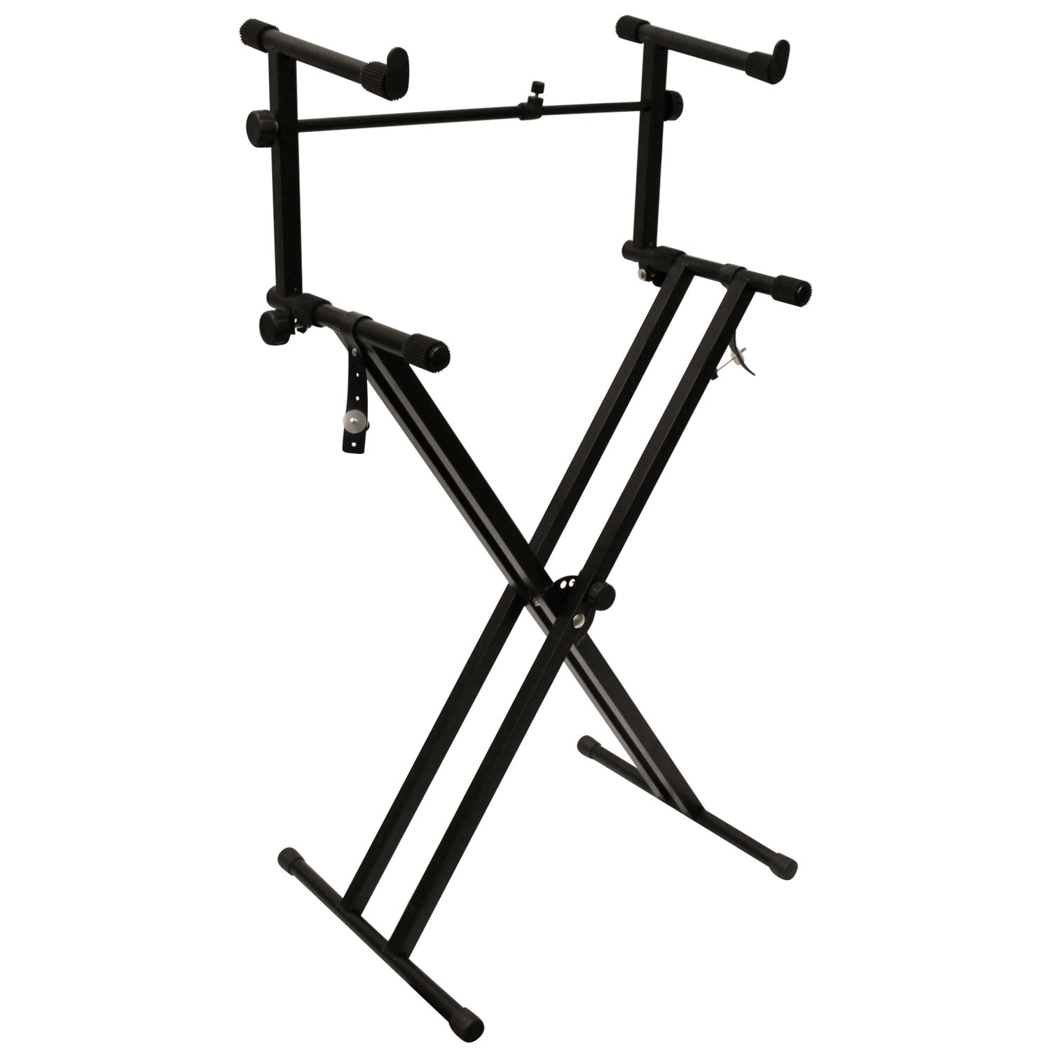 ChromaCast CC-KSTAND Double Braced X-Style Pro Series Keyboard Stand with Locking Straps