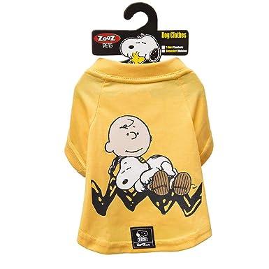 99439d3db2 Roupinha Para Cães - Camiseta Snoopy E Charlie Brown Amarela Zooz ...