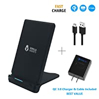 Deals on Gorilla Gadgets Fast Wireless Charger with QC 3.0 Adapter