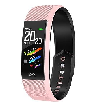 Tianya F6 Pulsera inteligente Deporte Actividad física Rastreador de ritmo cardíaco Pulsera de presión arterial APP compatible en varios idiomas: Amazon.es: ...