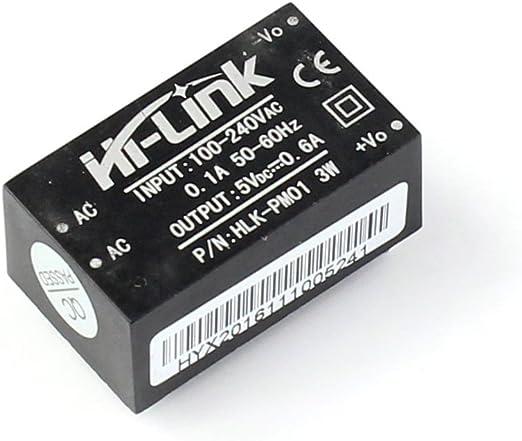 2 Pcs HLK-PM01 AC-DC 220V to 5V Step-Down Power Supply Module Household Switch