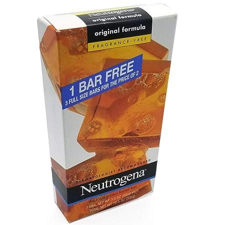 Neutrogena Transparent Soap Bar 3 Pack Fragrance-Free 9 Bars