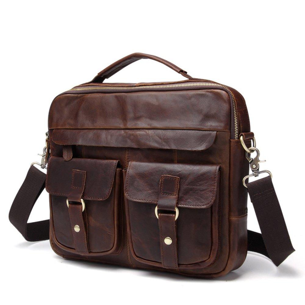Leder Herren Tasche Messenger Vintage Tote Casual Business Schulter Messenger Tasche Bags A 9c0ebd