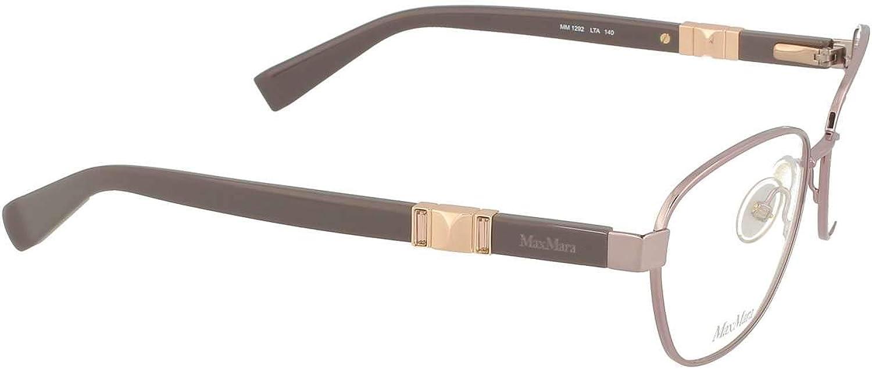 Max Mara Metal Rectangular Eyeglasses 54 0MGH Black Gold