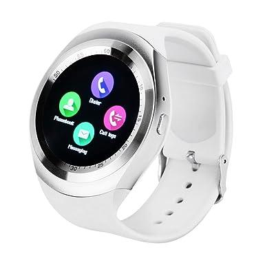 Reloj inteligente Beafup con Bluetooth, pantalla táctil, ranura para tarjeta SIM, monitor del