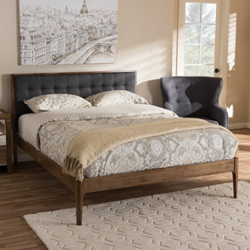 Upholstered Button-Tufted Platform Bed in Gray (King: 78.15 in. L x 85.24 in. W x 41.34 in. H)