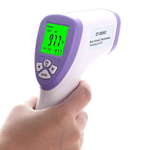 Thermometer Forehead for Adults, No Contact Infrared Thermometer for Fever, Accurate Instant Readings, Digital LCD Display, , Fever Alarm