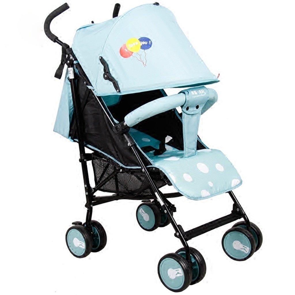子供用ベビーカー軽量携帯用折りたたみベビーカー(ブルー)(紫色)60 * 47 * 98cm ( Color : Blue ) B07BTKV2MN