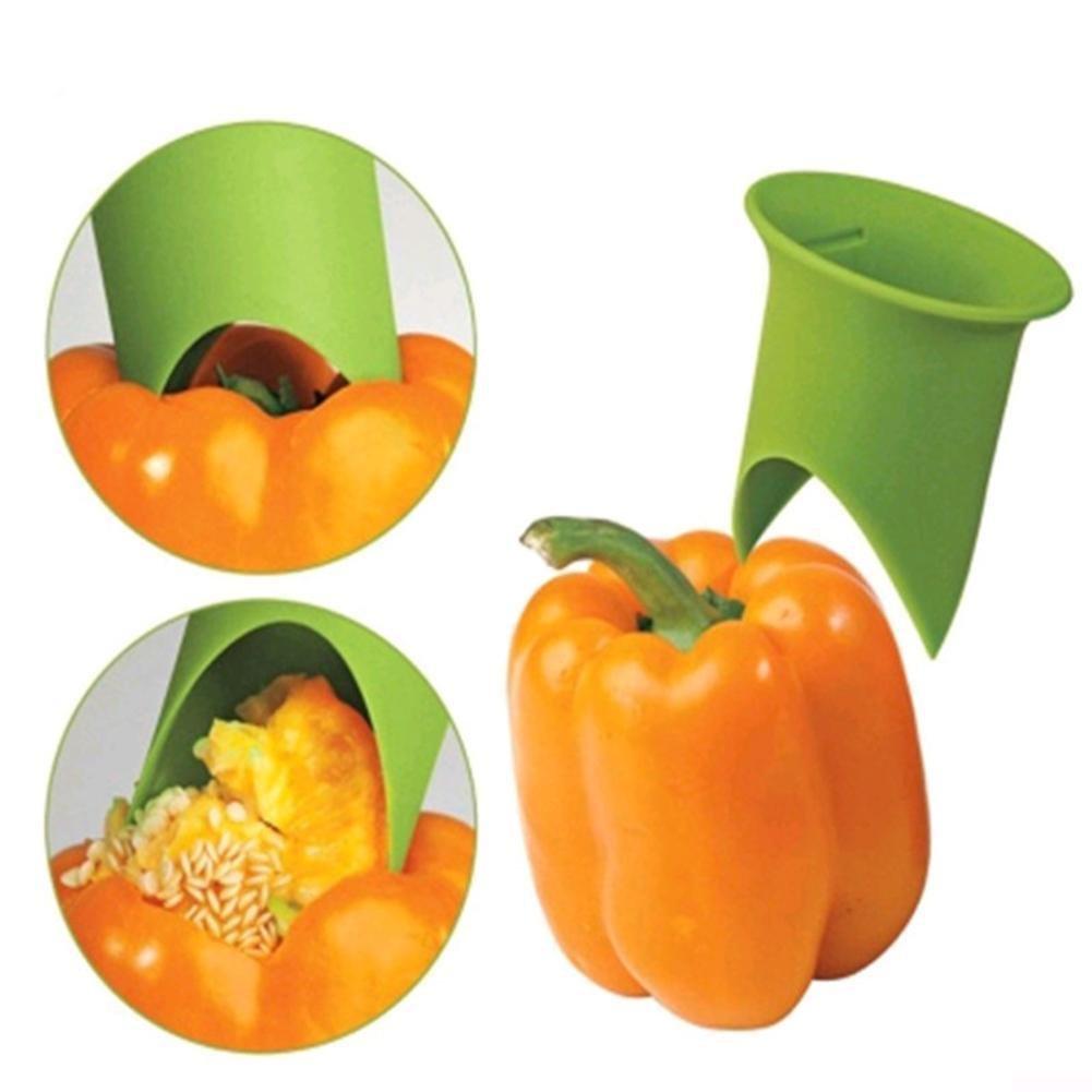 Taloyer 2pcs Fashion Chili Peppers Seed Remover Tomato Core Separator Device Kitchen Tools Random Color