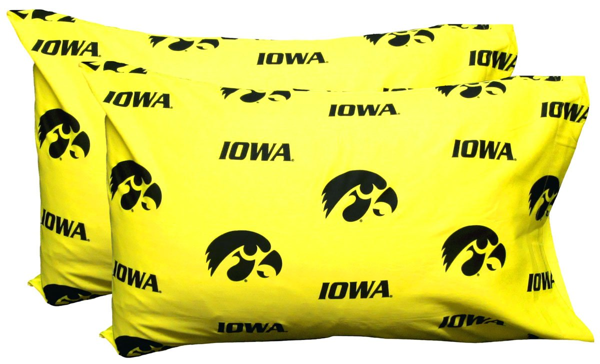 College Covers Iowa Hawkeyes Pair of Solid Pillowcase, Standard by College Covers (Image #1)