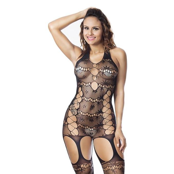 Lencería Mujer Erotica Negro, Fossen Mujer Interior Sexy Atrevida Transparente Bodies Ropa de Dormir (