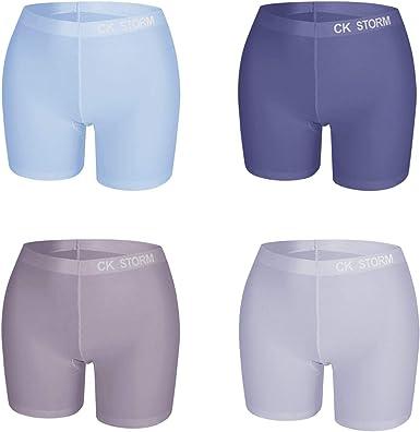 CK STORM - Leggings Cortos para Mujer (4 Unidades, algodón ...