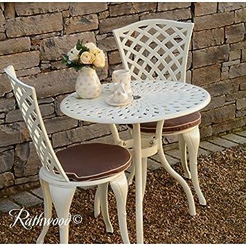 Westport Cream Bistro Set - Bistro Table with 2 matching Chairs ...