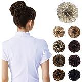 Messy Bun Hair Piece,Tousled Updo Hair Extensions Hair Bun Curly Wavy Ponytail Hair Piece Hair Scrunchies with Elastic…