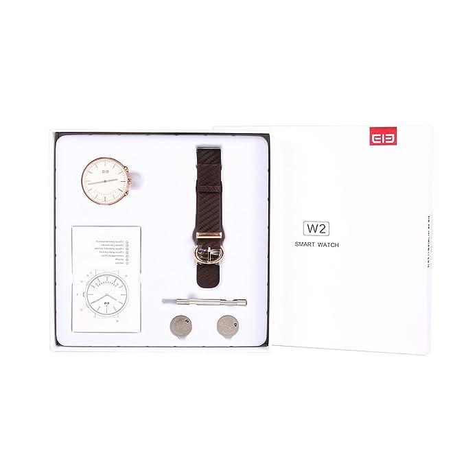 elephone ELE W2 SmartWatch - Reloj Inteligente Bluetooth 4.0 Remoto de la Cámara, Resistente al Agua, Podómetro, Recordatorio de Llamada (Oro)