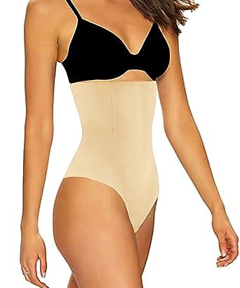 857748f48e FLORATA Women High-Waist Trainer Tummy Control Body Shaper Thong Panty  Shapewear at Amazon Women s Clothing store