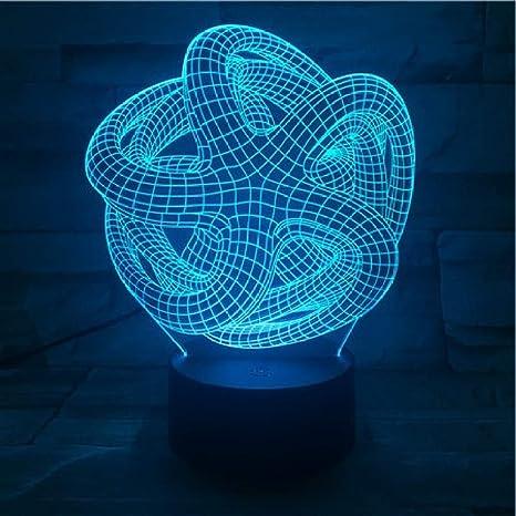 KangYD Bombilla espiral retorcida 3D Night Light, Vision LED ...
