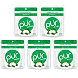 PUR 100% Xylitol Breath Mints, Spearmint, 20 Count (Pack of 5) Sugar-Free + Aspartame Free, Vegan + Non GMO
