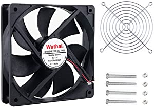 Wathai 120x120x25mm 120mm 12V 0.45A 2Pin DC Brushless Cooling Fan