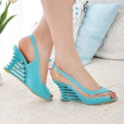 ZHZNVX sandali fondo spesso Sandali pesci con moda bocca spessi Blue con sandali sexy rApSwrq