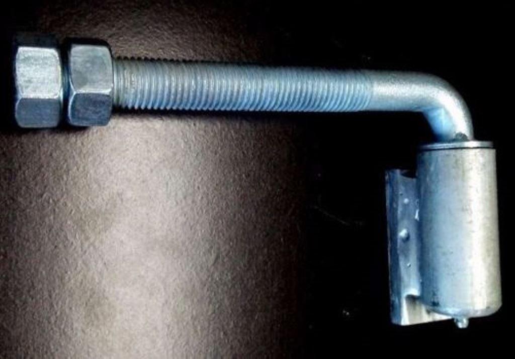 Pair of 3/4'' Aluminum Adjustable Barrel Hinge with Steel J-Bolt by Fittings Plus Inc (Image #2)