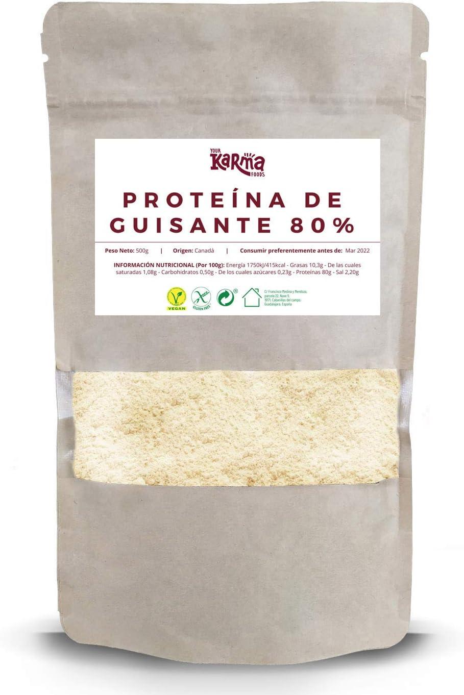 Proteína de Guisante 80% | 500 g | Vegana | Sin Gluten ...