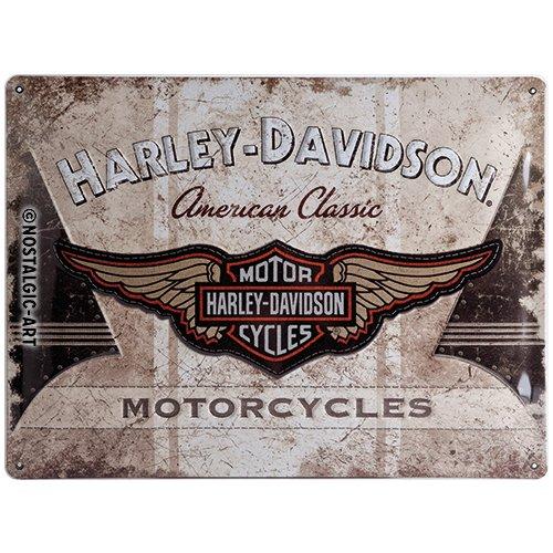 Harley-Davidson Plaque en mé tal AMERICAN CLASSIC, 40 x 30 cm Nostalgic Art 23144