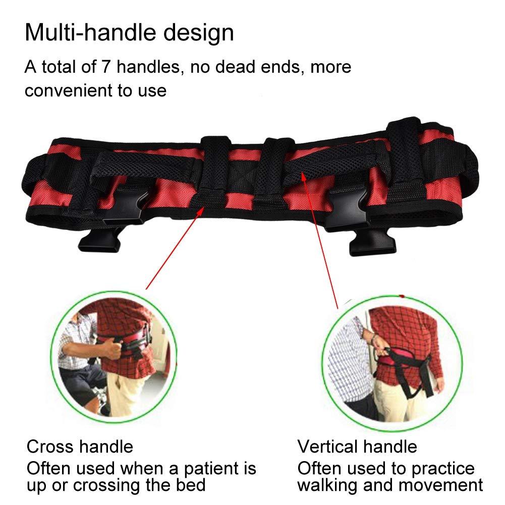 Training belt for rehabilitation, Transfer belt with belt loop, Auxiliary rehabilitation belt, Walking rehabilitation belt for leg rehabilitation(L) by TMISHION (Image #2)