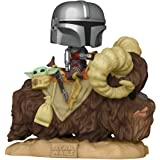 Funko Pop! Deluxe: Mandalorian - Mandalorian on Bantha with Child