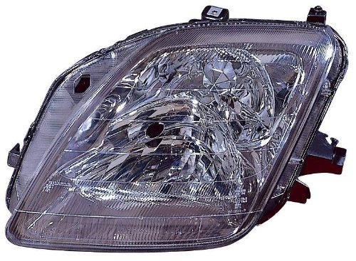 Depo 317-1139L-US Honda Prelude Driver Side Replacement Headlight Unit without Bulb - Honda Prelude Headlight Replacement