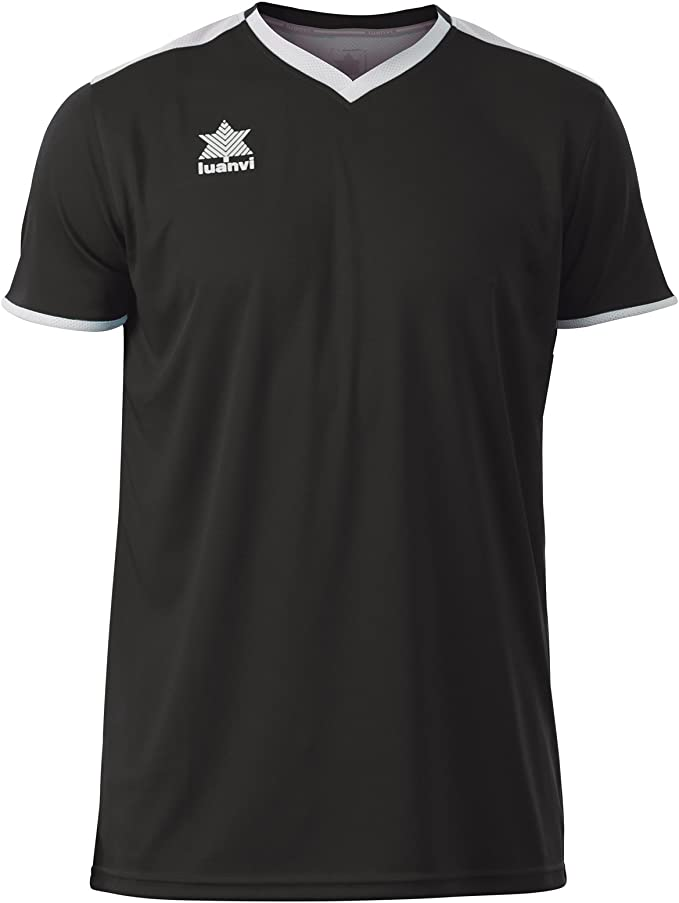 Luanvi Match Camiseta Deportiva de Manga Corta, Hombre