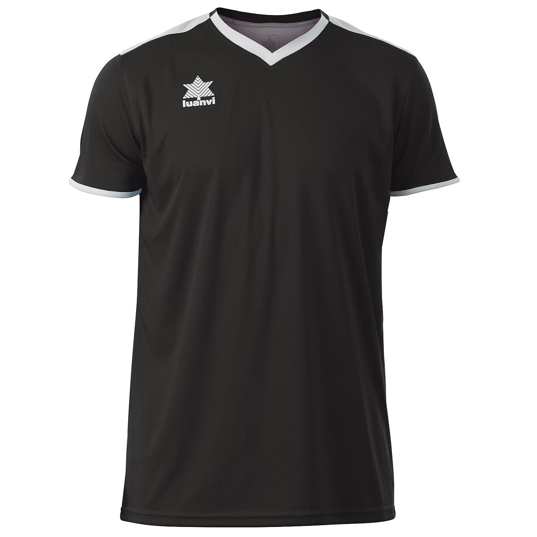 Luanvi Match Camiseta Deportiva de Manga Corta, Hombre, Azul, XXS ...