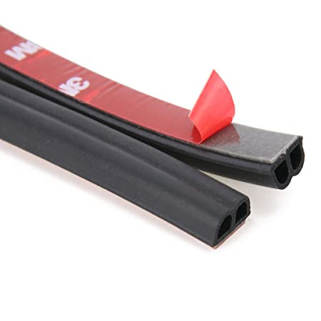Stick & seal B-Shape Rubber Product, Door Seal Strip for Cars, SUV and Other Vehicles 4 Meters with 3M Tape