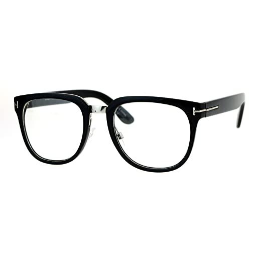 20193e0fc17 Clear Lens Eyeglasses Unisex Designer Fashion Square Frame UV400 Black