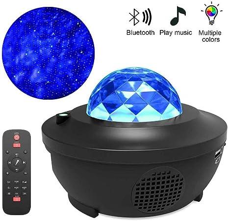 LED Ozean Meer Lampe Nachtlicht Sternenhimmel Projektor mit Lautsprecher DE