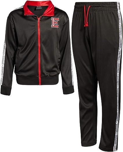 Toddler//Little//Big Boys Reebok Boys 2-Piece Athletic Fleece Tracksuit Set with Zip Up Jacket and Jog Pants