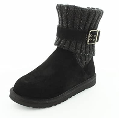 black ugg boots with buckle